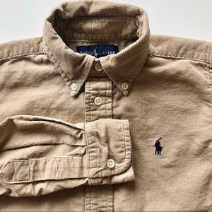 Ralph Lauren Soft Corduroy Button Down Shirt Camel